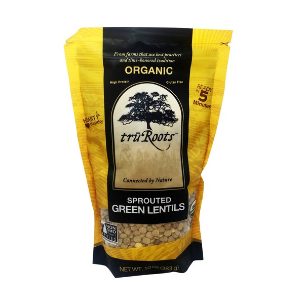 truRoots Sprouted Green Lentils