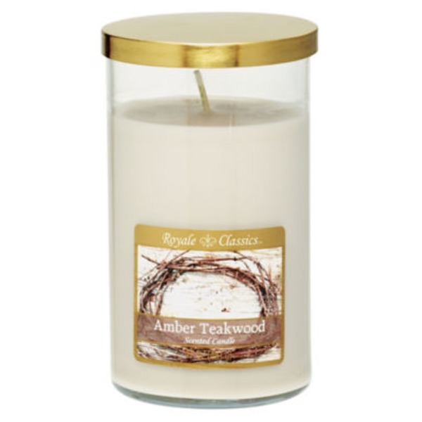 Royale Classics Amber Teakwood Scented Candle