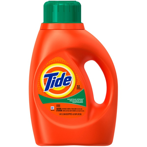 Tide Mountain Spring Scent Liquid Laundry Detergent, 50 oz, 32 loads Laundry