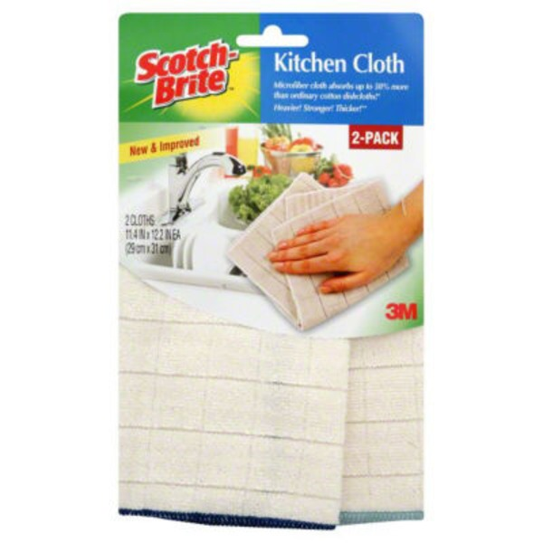 Scotch-Brite Scotch Brite Microfiber Kitchen Cloths - 2 CT