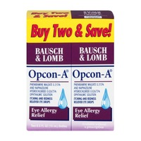 Opcon-A Bausch & Lomb Opcon-A Eye Allergy Relief Eye Drops - 2 CT