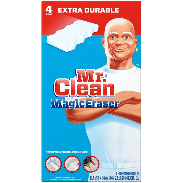 Mr. Clean Magic Eraser Extra Durable Scrubber & Cleaning Sponge 4ct. Surface Care