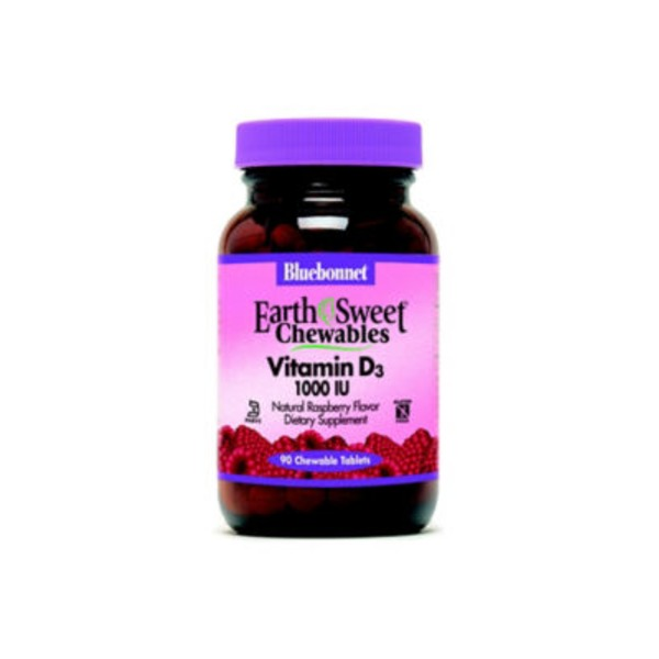 Bluebonnet Earth Sweet Vitamin D3 Chewables