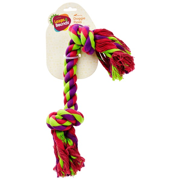 Leaps & Bounds Large Multicolor Rope Bone