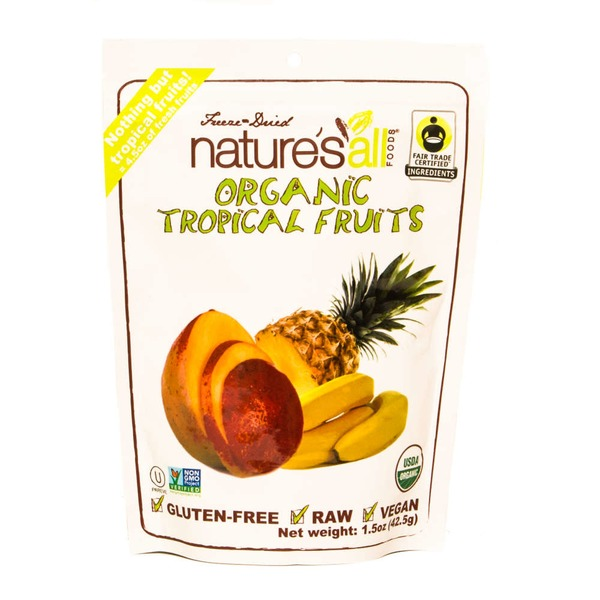 Nature's All Foods Tropical Fruits, Organic, Freeze-Dried