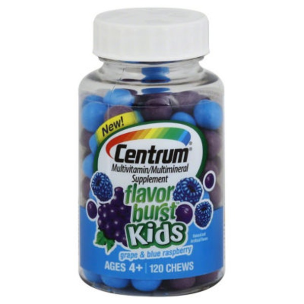 Centrum Flavor Burst Kids Grape & Blue Raspberry Multivitamin/Multimineral Supplement