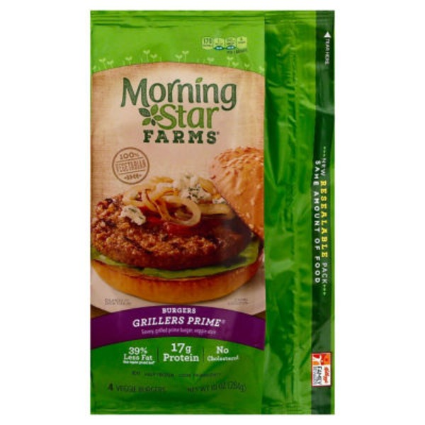 Morning Star Farms Grillers Prime Veggie Burgers