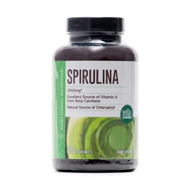 Whole Foods Market Spirulina 500mg Tablets
