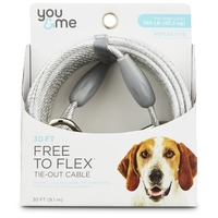 Fresh 'n Clean Free to Flex Tie-out Cable Heavy 30' Leash