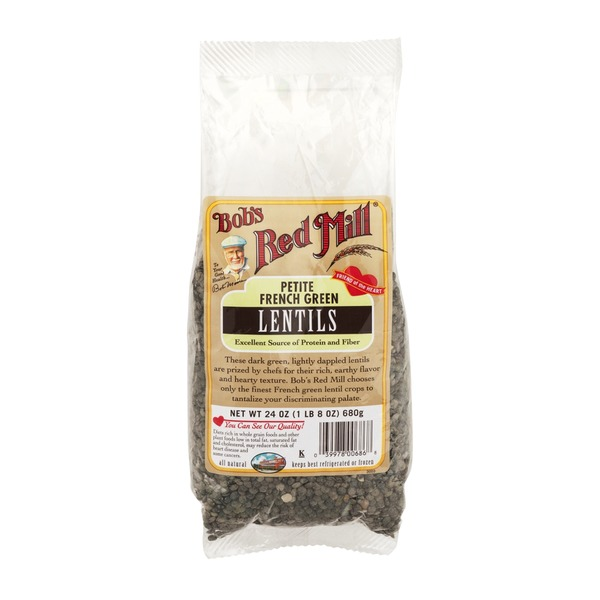 Bob's Red Mill Green Lentils Heritage Beans Petite French Style