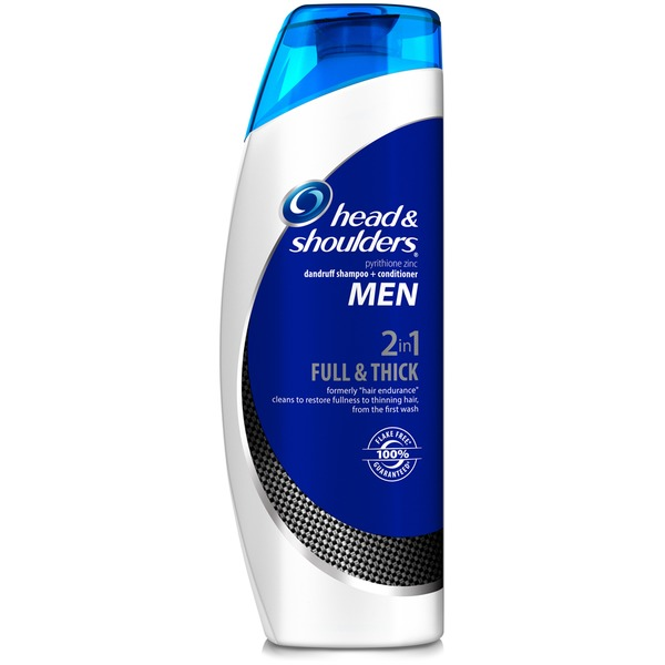 Head & Shoulders Hair Endurance Head and Shoulders Full & Thick 2-in-1 Dandruff Shampoo + Conditioner for Men 23.7 Fl Oz Female Hair Care