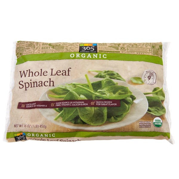 365 Organic Whole Leaf Spinach