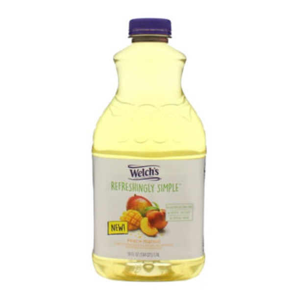 Welch's Refreshingly Simple Peach Mango Flavored Juice Beverage Blend