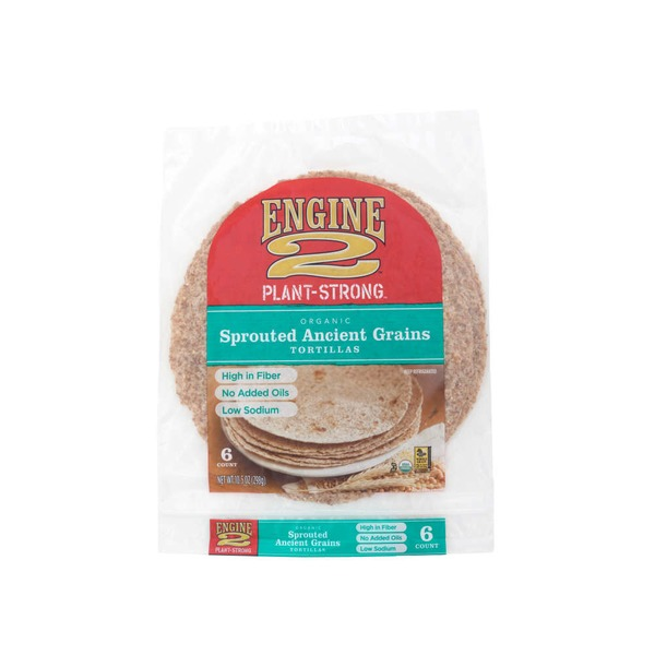 Engine 2 Organic Sprouted Ancient Grain Tortillas 6 Count