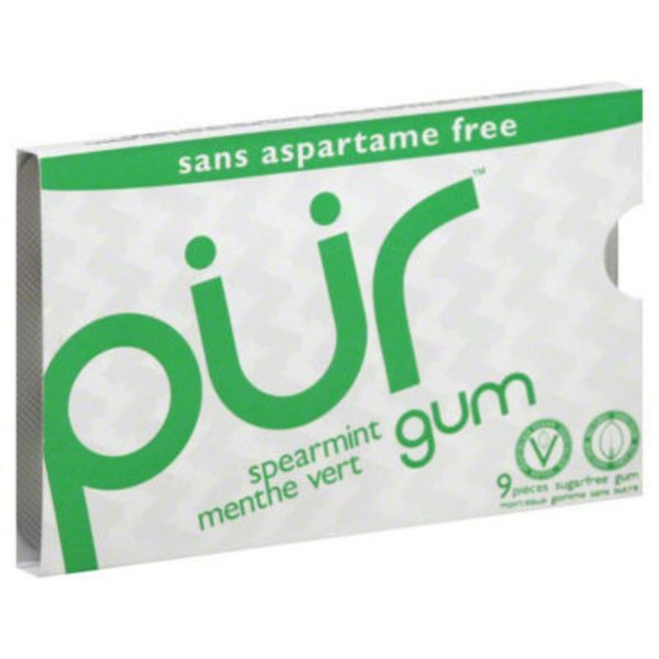 Pur Spearmint Gum - 9 CT