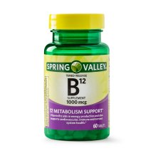 Spring Valley Vitamin B12 Timed Release Tablets, 1000 mcg, 60 Ct