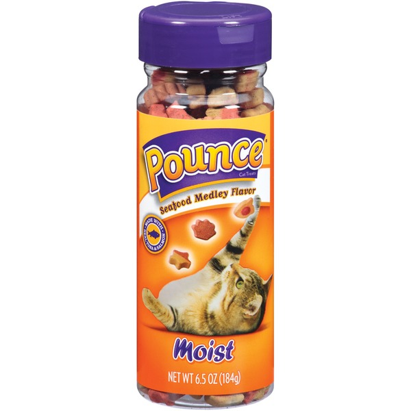 Pounce Moist Seafood Medley Flavor Cat Treats
