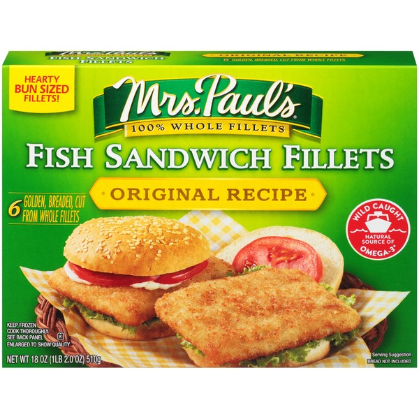 Mrs. Paul's Original Recipe Sandwich Fish Fillets