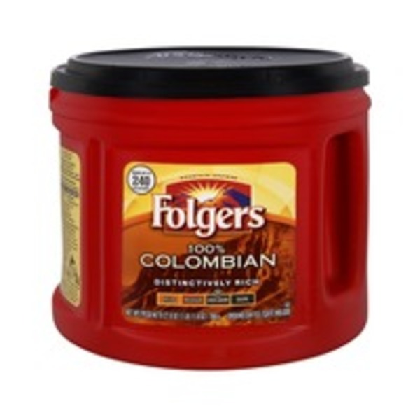 Folgers 100% Colombian Ground Medium Dark Coffee