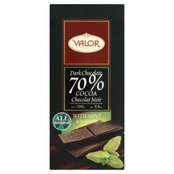 Valor Dark Chocolate With Mint Bar
