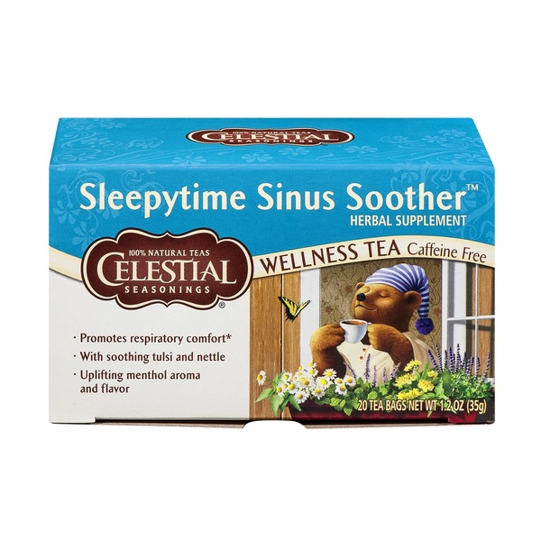 Celestial Seasonings Sleepytime Sinus Soother Caffeine Free Wellness Tea Bags - 20 CT