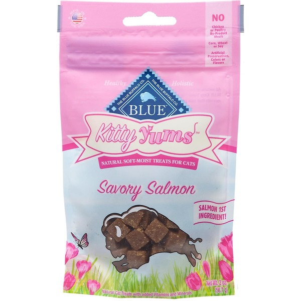 Blue Buffalo Treats for Cats Natural Soft-Moist Savory Salmon