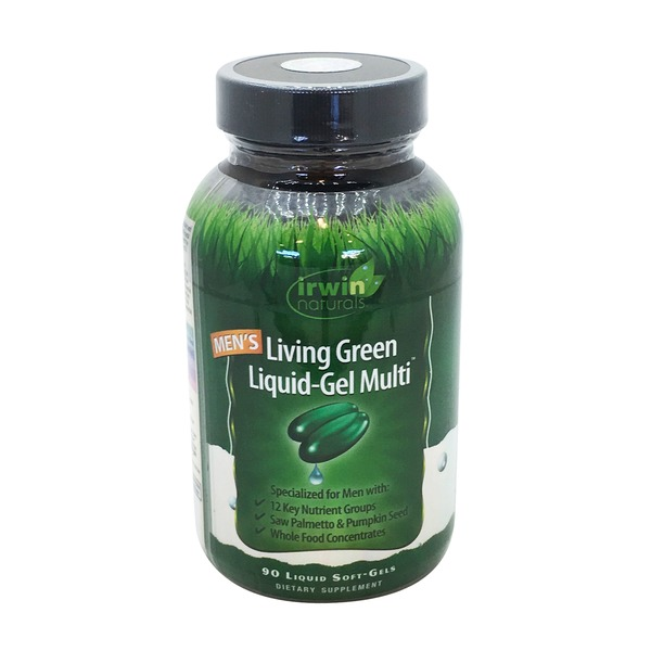 Irwin Naturals Men's Living Green Liquid Gel Multi Soft-Gels