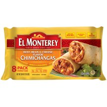 El Monterey® Beef, Bean & Cheese Flavor Chimichangas (8ct)