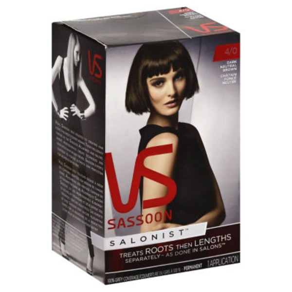 Vidal Sassoon Dark Neutral Brown Permanent Hair Color Kit