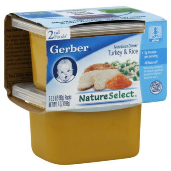 Gerber Nutritious Dinner Turkey & Rice Baby Food 2nd Foods