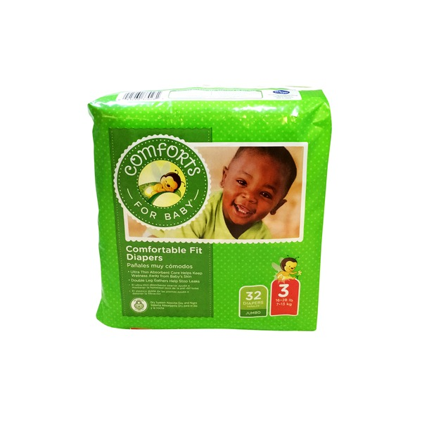 Comforts For Baby Size 3 Comfortable Fit Diapers