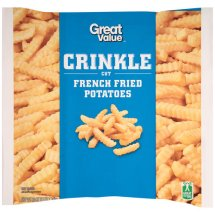 Great Value Crinkle Cut French Fried Potatoes, 80 oz
