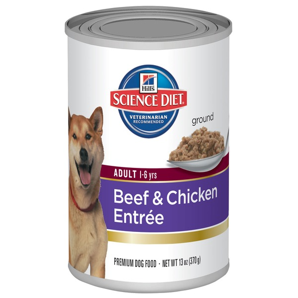 Hill's Science Diet Dog Food, Adult (1-6 Years), Beef & Chicken Entr�e