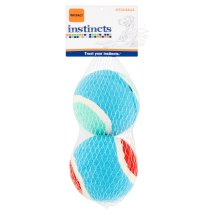 Instincts Interact Fetch Balls Dog Toy, Multicolor, 2 Ct