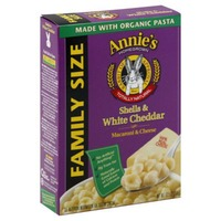 Annie's Homegrown Shells & White Cheddar Mac & Cheese Family Size Macaroni & Cheese