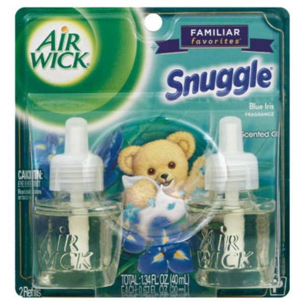 Air Wick Familiar Favorites Scented Oil Snuggle Blue Iris Air Freshener Refills