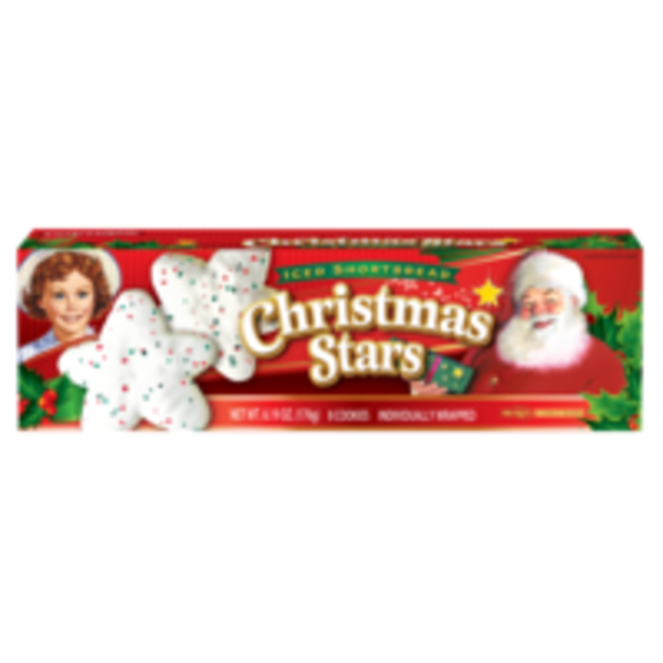 Little Debbie Vanilla Shortbread Christmas Stars