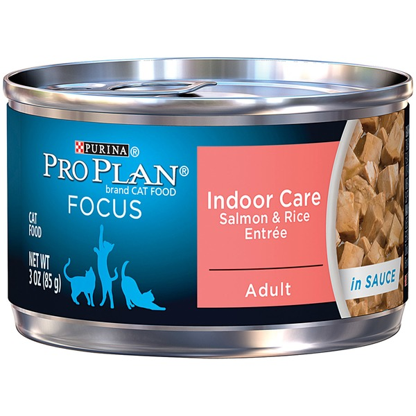 Pro Plan Cat Wet Focus Adult Indoor Care Salmon & Rice Entree in Sauce Cat Food