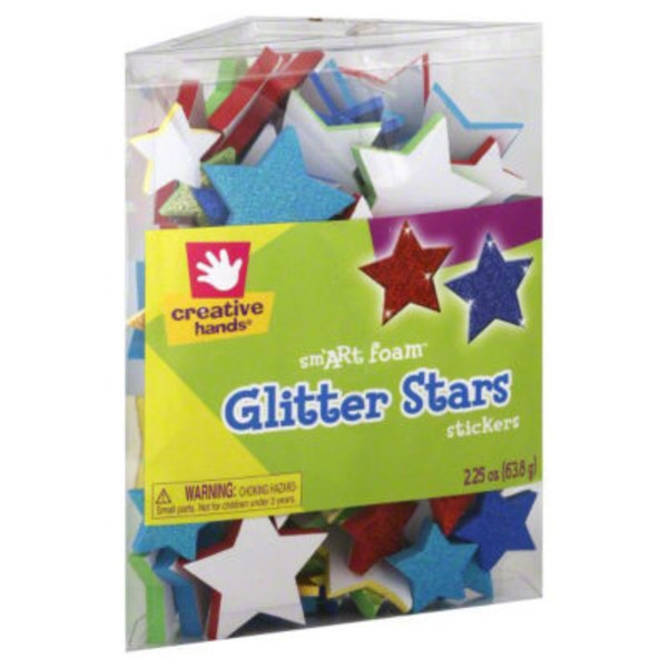 Creative Hands Glitter Stars Stickers