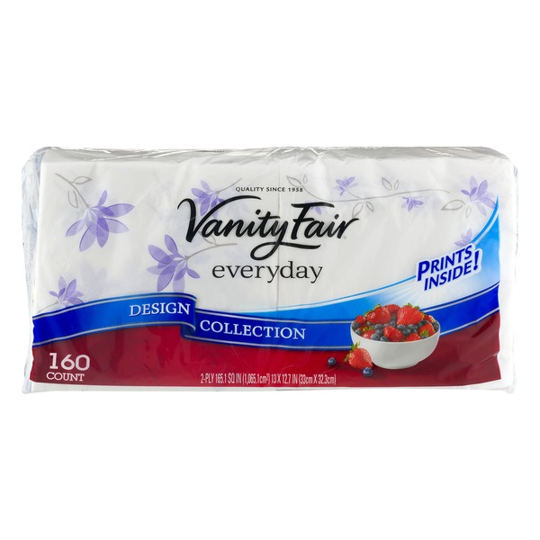 Vanity Fair Everyday Design Collection Napkins - 160 CT
