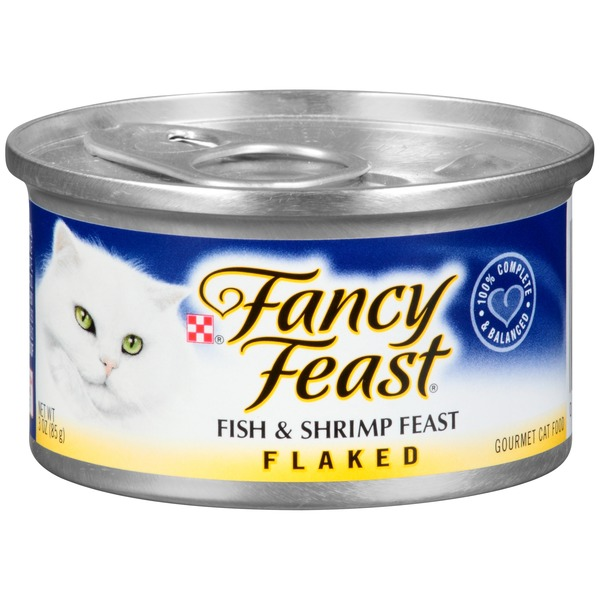Fancy Feast Wet Flaked Fish & Shrimp Feast Cat Food