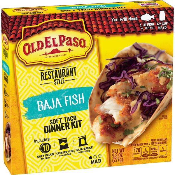 Old El Paso Restaurant Style Baja Fish Soft Taco Dinner Kit