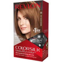 Revlon ColorSilk Beautiful Color Permanent 54 Light Golden Brown -test, 1.0 KIT