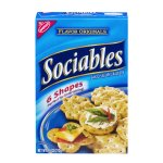 Sociables Baked Savory Crackers 6 Shapes, 7.5 OZ