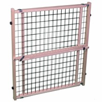 North States Wood Frame Wire Mesh Wide Pet Gate