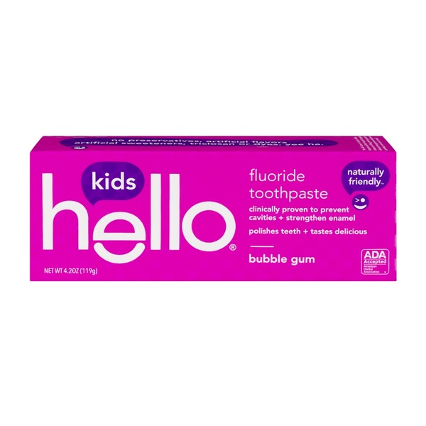 Hello Kids Fluoride Toothpaste Bubble Gum