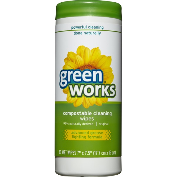 Green Works Clorox Green Works Compostable Cleaning Wet Wipes - 30 CT