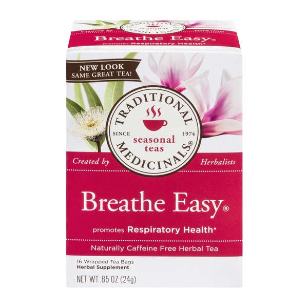Traditional Medicinals Seasonal Teas Breathe Easy Naturally Caffeine Free Herbal Tea