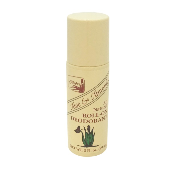 Alvera Aloe & Almonds All Natural Roll-On Deodorant