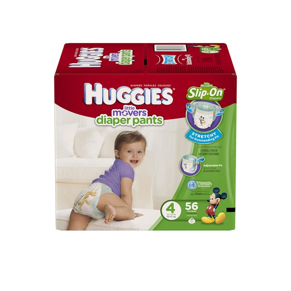 Huggies Supreme Little Movers Slip-On Size 4 Diapers